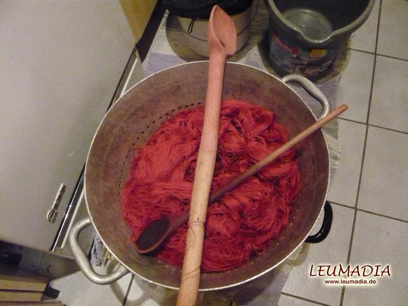 Färbeaktion in der Küche