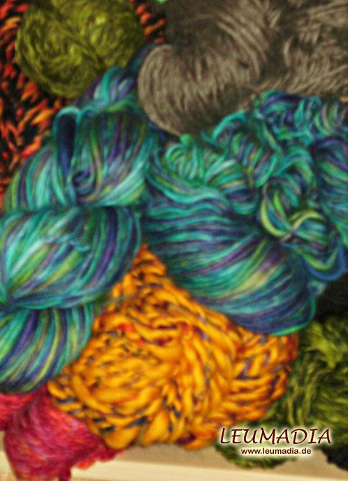 Gesponnene Wolle