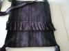 Tasche aus handgesponnener Wolle
