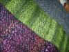 Schals aus handgesponnener Wolle