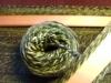 Weben mit handgesponnener Wolle